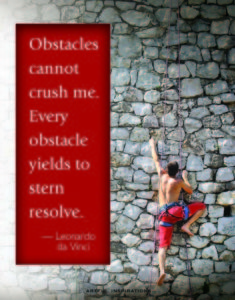 Obstacles make you stronger